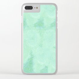 Blue Gray Cotton Fluff Clear iPhone Case