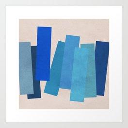 Blue Rectangles Art Print