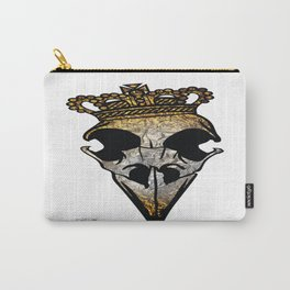 Gold/Silver Crown Skull Carry-All Pouch