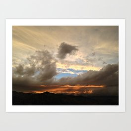 Clouds burning underneath  Art Print