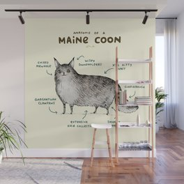 Anatomy of a Maine Coon Wall Mural
