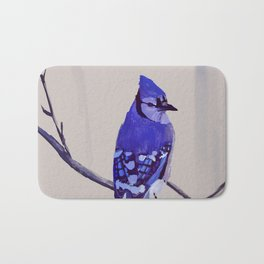 Blue Jay Bird Bath Mat