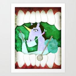 Dentist Unicorn Art Print