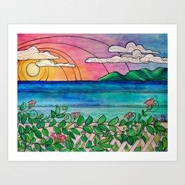 Laguna View Surf Art by Lauren Tannehill Art Art Print