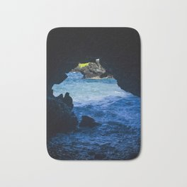 Black Sand Beach Cave Bath Mat