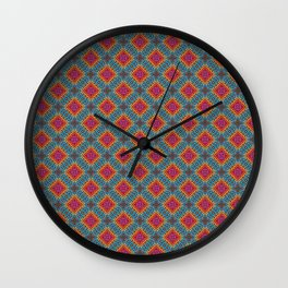 Embroidered Kaleidoscope - Saltire Wall Clock
