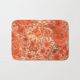 Rust Orange Bubble Abstract Bath Mat