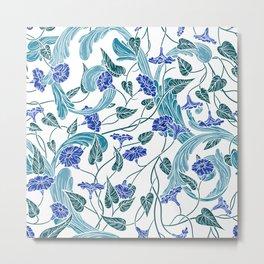 English garden flowers pattern Metal Print