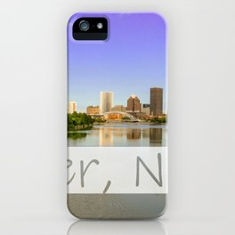 Rochester NY skyline with text added iPhone Case