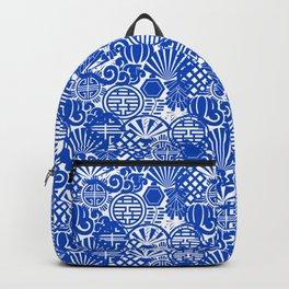 Chinese Symbols in Blue Porcelain Backpack
