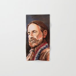 Willie Nelson Acrylic Painting Hand & Bath Towel
