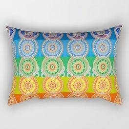 SEVEN CHAKRA SYMBOLS OF HEALING ART Rectangular Pillow