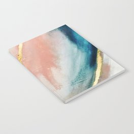 Celestial [3]: a minimal abstract mixed-media piece in Pink, Blue, and gold by Alyssa Hamilton Art Notebook