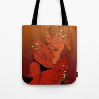 zombies Tote Bags featuring ZOMBIES by Marcus Wild