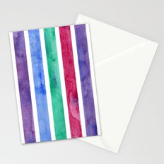 Peacock Stripes Stationery Cards