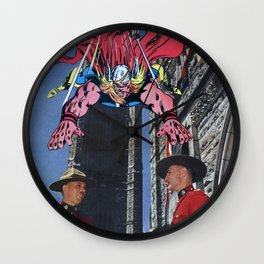 How the Gods Kill (Themselves)  - Vintage Collage Wall Clock