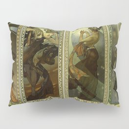 "Alphonse Mucha ""The Moon and the Stars Series"" Pillow Sham"