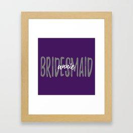 Bridesmaid Plum Grey Framed Art Print