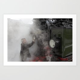 Steam locomotive 99 5902 from 1897 Art Print