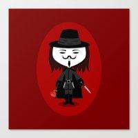 vendetta Canvas Prints featuring Vendetta by Sombras Blancas Art & Design