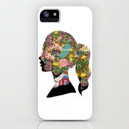 Flowery Girl iPhone Case