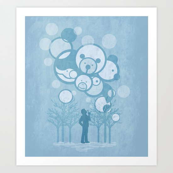 Don't Burst the Bubble Art Print