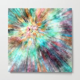 Colorful Tie Dye Metal Print