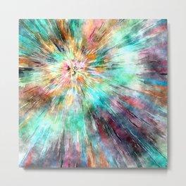 Colorful Tie Dye Metal Print