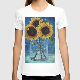 Lightning Bugs and Sunflowers T-shirt