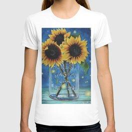 Lightning Bugs and Sunflowers T-shirt