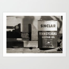 Old Sinclair Motor Oil Can Art Print