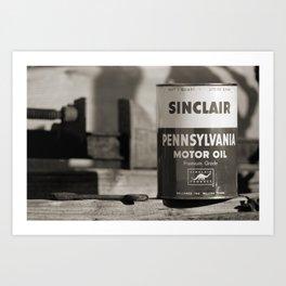 Old Sinclair Motor Oil Can Art Print