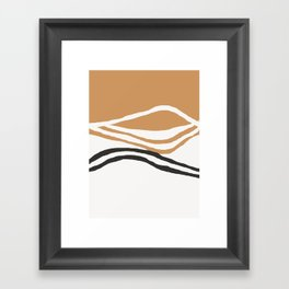 Rhode - ocean art, wall art, minimal art, earth tone, earth palette, minimalist, olivia st james art Framed Art Print