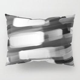 Racing City Lights - Black and White Pillow Sham