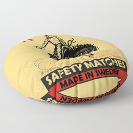The Vintage Rodeo Safety Matches Floor Pillow