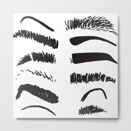 Sketchy Eyebrows Metal Print