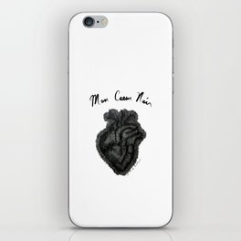 """Mon Coeur Noir "" (My Black Heart) - Original Artwork by Denise Sagun iPhone Skin"
