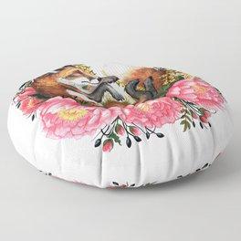 Flora and Fauna Fox Floor Pillow