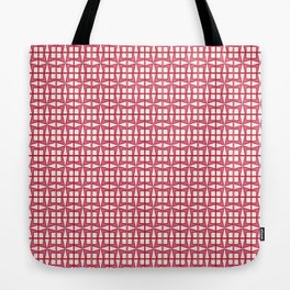 Squares and triangles tiles pattern Tote Bag