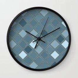 Blueprint Geometric Pattern 5 Wall Clock