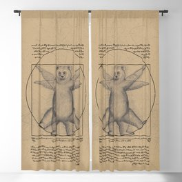 The Vitruvian Bear Blackout Curtain