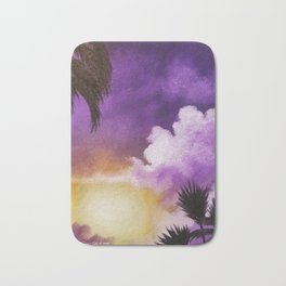Lilac Living, Lavender Sunset, Purple Sunset, Purple Beach Print, Purple Beach Sunset Art Bath Mat