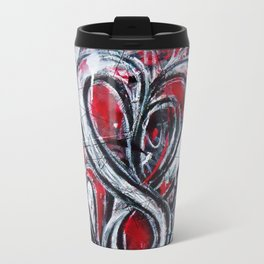 """Head Space"" by Richard Schemmerer for Vacancy Zine Metal Travel Mug"