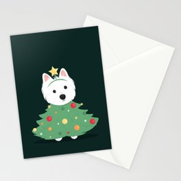 Merry westie Christmas! Stationery Cards