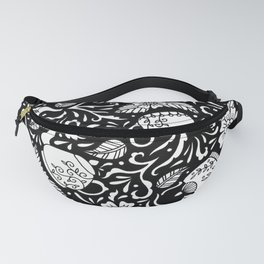 Tea Time Black and White Fanny Pack