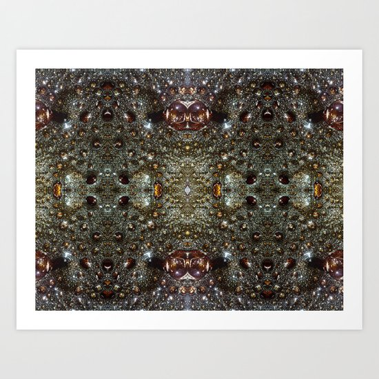 Abstract brown, dark gray texture pattern Art Print