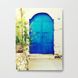 ten numbered door in bodrum Metal Print