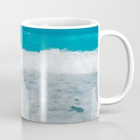 wave Mugs featuring Wave by SensualPatterns