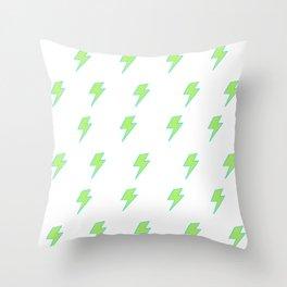 Bolt- Lime Green Throw Pillow