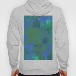 A Different View Of Earth - Abstract, textured, globe painting Hoody